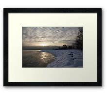 Cold, Moody and Fabulous - a Winter Morning on the Lake Shore Framed Print