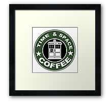 COFFEE: TIME AND SPACE Framed Print