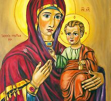 Virgin Marry With Jesus Infant by Lydia Cafarella
