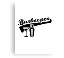 Barkeeper bartender Canvas Print