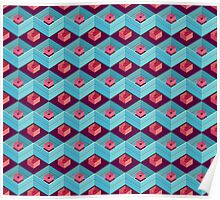 geometric pattern in aztec style Poster