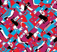 random blocks wave pattern by singpentinkhepi