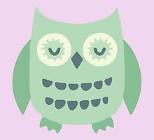 Cyan Owl Collection by charliedulcet