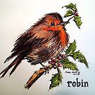 Christmas Robin. Elizabeth Moore Golding 2014© by Elizabeth Moore Golding