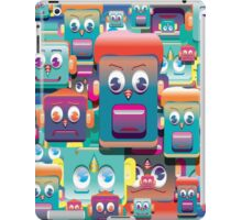 pattern face expression colorful iPad Case/Skin