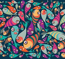 Beautiful collection of tropical fish pattern  by singpentinkhepi