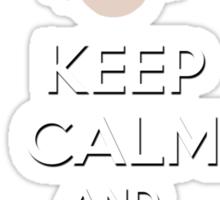 """""""Keep Calm and Wubba Lubba Dub Dub"""" Sticker"""