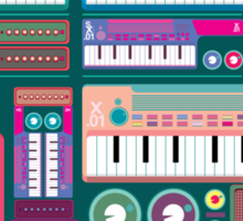 Colorful Synthesizer  Sticker