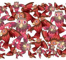 Cute random owl pattern by singpentinkhepi
