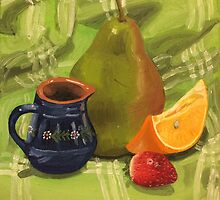 Fruit Still Life Painting by Lagoldberg28