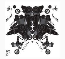 black motorbike robot 1 T-Shirt