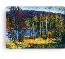 Autumn landscape in Deer Lake park Canvas Print