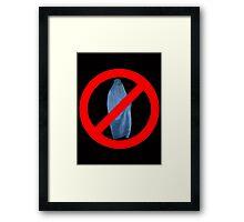 Banned Burka Image Framed Print