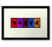 They're the worlds most fearsome fighting team! Framed Print