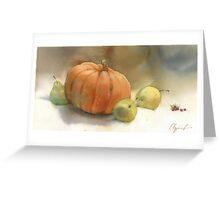 Stil-life with pumpkin Greeting Card