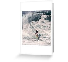 John John Florence 2006: Surfing The Pipeline at 13. Greeting Card