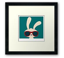 Cool easter bunny with sunglasses Framed Print