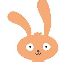 Funny cartoon bunny smiling by berlinrob