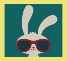 Cool easter bunny with sunglasses Kids Clothes