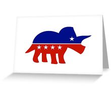 Triceratops Political Logo Greeting Card