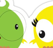 Two cute birds in love Sticker