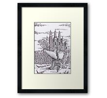 Cross the wall Framed Print