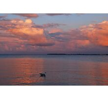 A colourful evening at the Baltic Sea Photographic Print