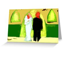 THE BLUSHING BRIDE AND GROOM 2 Greeting Card