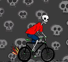 Bicycle Skulls by lucylittler