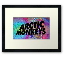 Psychedelic Arctic Monkeys Framed Print