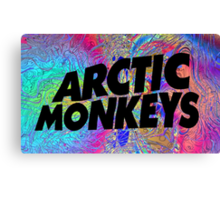 Psychedelic Arctic Monkeys Canvas Print