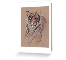 UNFINISHED BUSINESS - Original Tiger Drawing - Mixed Media (acrylic paint & pencil) Greeting Card