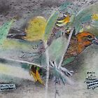 """""""Eye on the Sparrow""""On a back side of a 4 ply mat board by David M Scott"""
