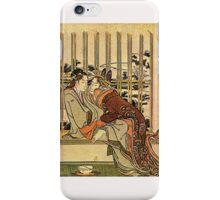 'Couples' by Katsushika Hokusai (Reproduction) iPhone Case/Skin