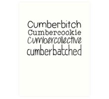Cumberbatched Art Print