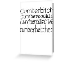 Cumberbatched Greeting Card