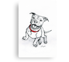 Happy Staffie Canvas Print