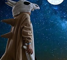 Lonely Cubone Under the Night Sky by Peter082790