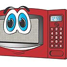 Red Male Microwave Cartoon by Graphxpro