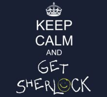 Keep calm and get sherlock Kids Clothes