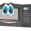 Black Male Microwave Cartoon by Graphxpro