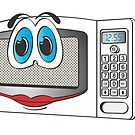 White Female Microwave Cartoon by Graphxpro