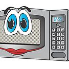 Stainless Steel Female Microwave Cartoon by Graphxpro
