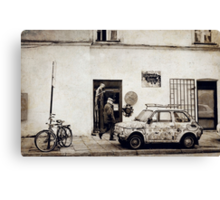 Street in Cracow Canvas Print