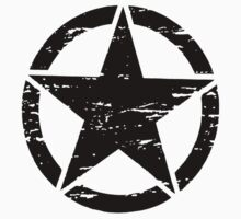 Freedom Military Star Distressed Shirt, Stickers, Cases, Posters, Cards  by 8675309