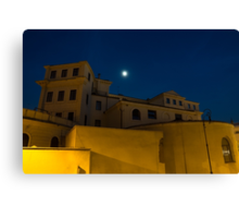 Magical Rome, Italy - Yellow Facades and Moonlight Canvas Print