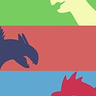 Pokemon Starters -  Gen 2 by TipsyKipsy