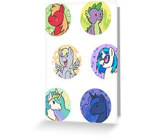 Sticker Badges - My Little Pony Secondaries! Greeting Card