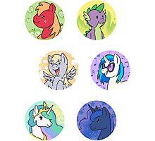 Sticker Badges - My Little Pony Secondaries! Photographic Print
