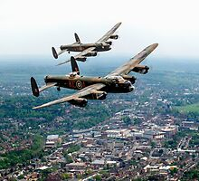 Two Lancasters over High Wycombe by Gary Eason + Flight Artworks